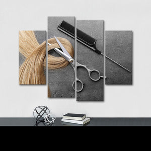 Short Hair Don't Care Multi Panel Canvas Wall Art - Hair