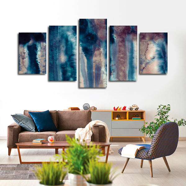 Abstract Watercolor Multi Panel Canvas Wall Art