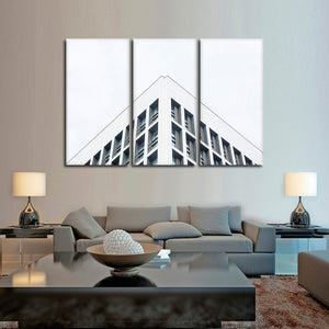 Minimal Building Multi Panel Canvas Wall Art - Architecture