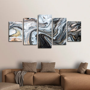 Sparkling Abstract Multi Panel Canvas Wall Art - Abstract