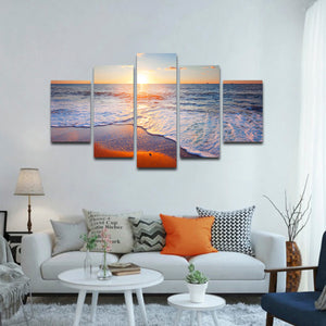 Siesta Beach Multi Panel Canvas Wall Art - Beach