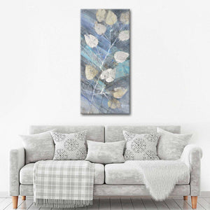 Silver Leaves II Multi Panel Canvas Wall Art - Abstract