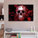 Silver Rose Skull Multi Panel Canvas Wall Art