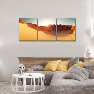 Sinai Desert Multi Panel Canvas Wall Art - Nature