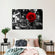 Single Rose Pop Multi Panel Canvas Wall Art