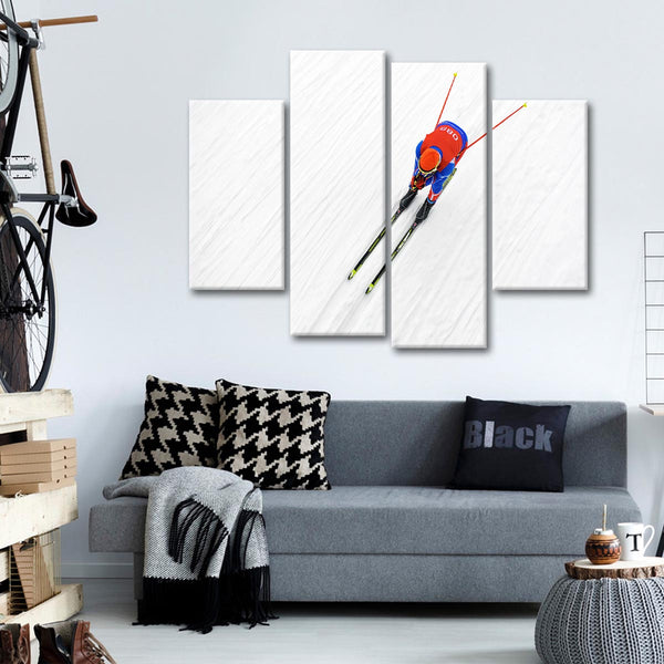 Ski Rush Multi Panel Canvas Wall Art