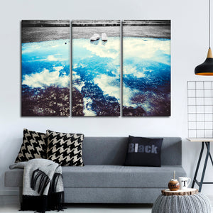 Sky Reflection Pop Multi Panel Canvas Wall Art - Sky
