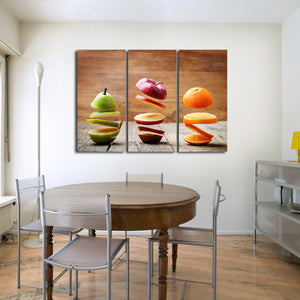 Slices of Fruit Multi Panel Canvas Wall Art - Kitchen