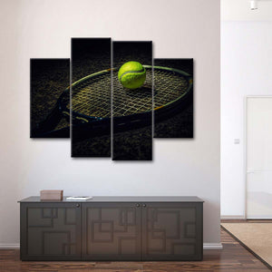 Smash Shot Multi Panel Canvas Wall Art - Tennis