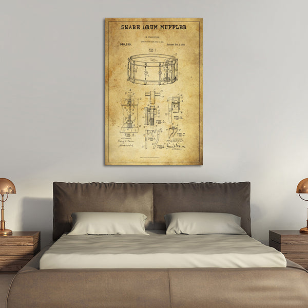 Snare Drum Muffler Patent Canvas Wall Art | ElephantStock