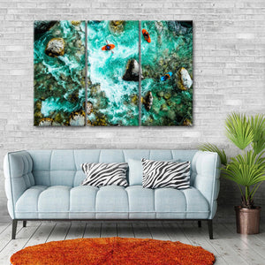 Soca River Kayaking Multi Panel Canvas Wall Art - Kayak