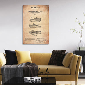 Soccer Shoe Patent Canvas Wall Art - Soccer
