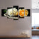 Soft Roses and Pearls Multi Panel Canvas Wall Art