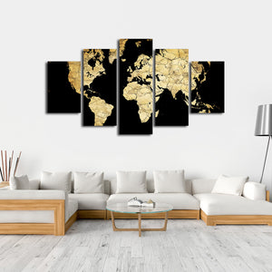Soil World Map Multi Panel Canvas Wall Art - World_map