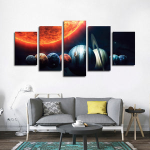 The Universe Multi Panel Canvas Wall Art - Astronomy
