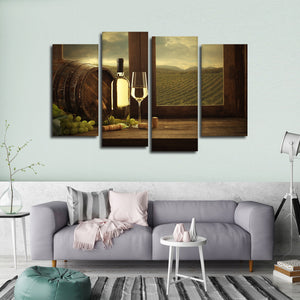 Sonoma Wine Multi Panel Canvas Wall Art - Winery