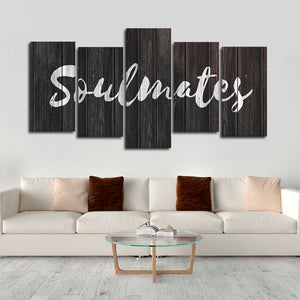 Soulmates Multi Panel Canvas Wall Art - Relationship