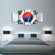South Korea Flag Multi Panel Canvas Wall Art