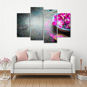 Spa Fusion Multi Panel Canvas Wall Art - Spa