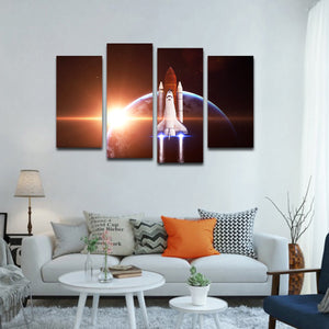 Space Odyssey Multi Panel Canvas Wall Art - Astronomy