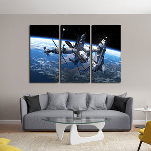 Space Station Multi Panel Canvas Wall Art - Astronomy