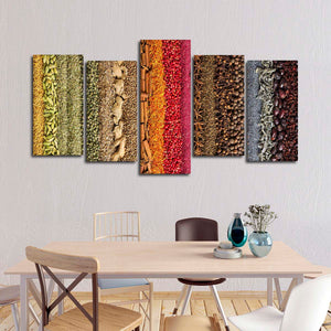 Spice Collection Multi Panel Canvas Wall Art - Kitchen