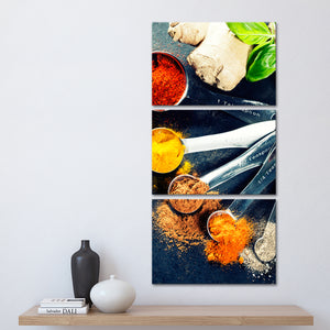 Spice Selection Multi Panel Canvas Wall Art - Kitchen