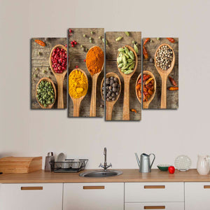 Spice Variety Multi Panel Canvas Wall Art - Kitchen