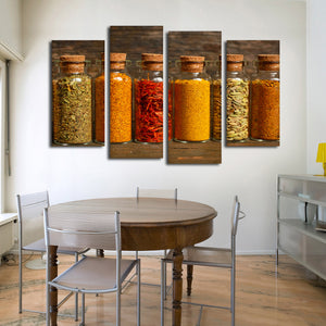 Spice Up Your Life Multi Panel Canvas Wall Art - Kitchen