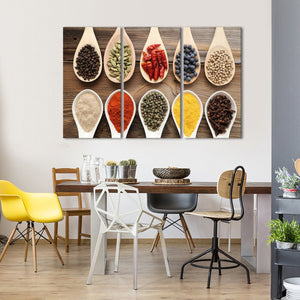 Spices Multi Panel Canvas Wall Art - Kitchen