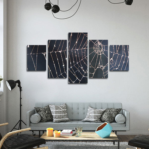 Spider's Net Multi Panel Canvas Wall Art