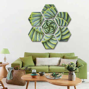 Spiral Aloe Multi Panel Canvas Wall Art - Botanical