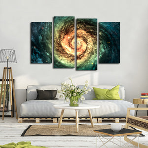 Spiral Galaxy Multi Panel Canvas Wall Art - Astronomy