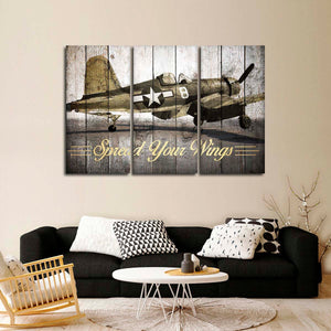Spread Your Wings Multi Panel Canvas Wall Art - Airplane