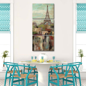 Spring in Paris II Multi Panel Canvas Wall Art - Landmarks