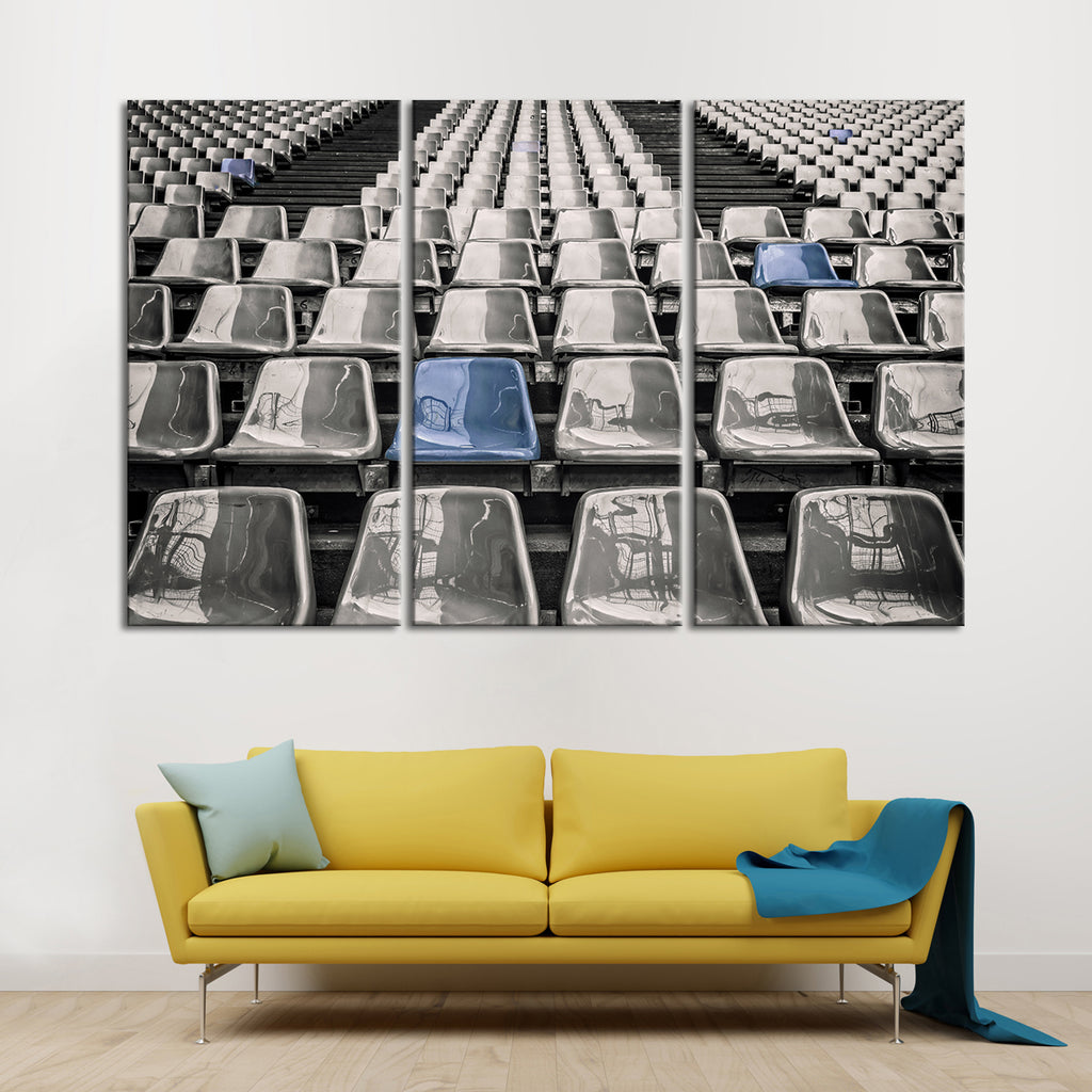 living room stadium seating stadium seat pop multi panel canvas wall elephantstock 14288