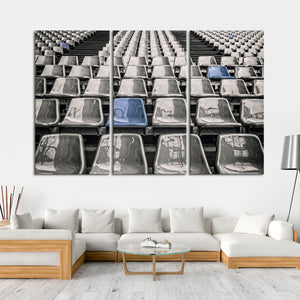 Stadium Seat Pop Multi Panel Canvas Wall Art - Baseball