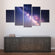 Starry Night Milky Way Multi Panel Canvas Wall Art