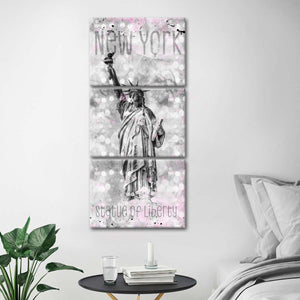 Statue Of Liberty Dream Multi Panel Canvas Wall Art - Landmarks