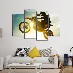 Step Up Multi Panel Canvas Wall Art - Motocross