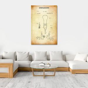 Stethoscope Patent Canvas Wall Art - Medical