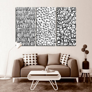 Minimal Abstract Patterns Canvas Set Wall Art - Abstract