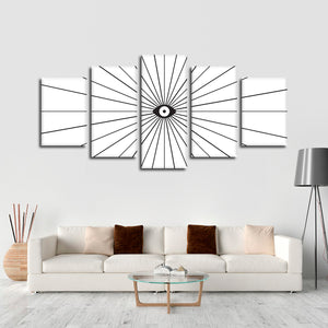 The Eye Multi Panel Canvas Wall Art - Minimalism