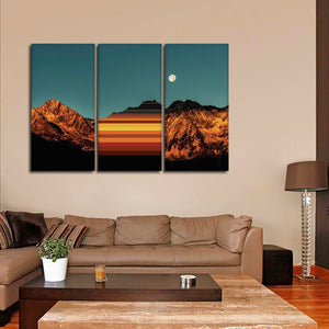 Stunning Canyon Colorblock Multi Panel Canvas Wall Art - Nature