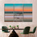 Spectacular Sunset Colorblock Multi Panel Canvas Wall Art