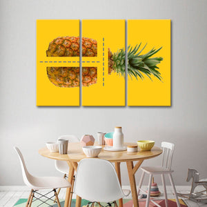 Pineapple Sections Multi Panel Canvas Wall Art - Pineapple