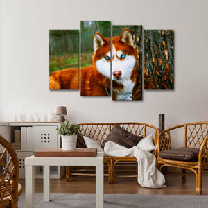 Leader Of The Pack Multi Panel Canvas Wall Art - Wolf