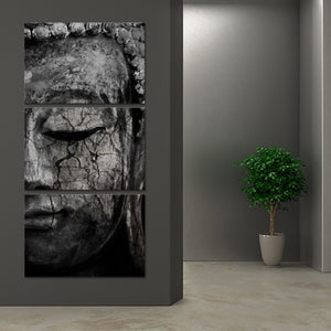 Stone Tides Of Tranquility Multi Panel Canvas Wall Art - Buddhism