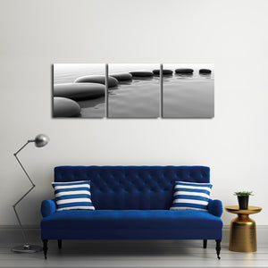 Stones Multi Panel Canvas Wall Art - Spa