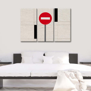 Stop Sign Multi Panel Canvas Wall Art - Minimalism